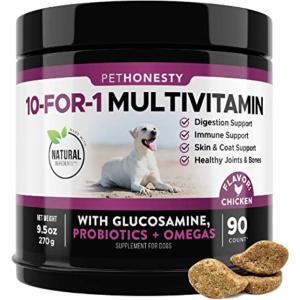 PetHonesty 10 in 1 Dog Multivitamin with Glucosamine