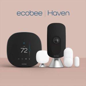 9折, $359.99 收5件套独家:Ecobee 智能恒温器、安防摄像头专场