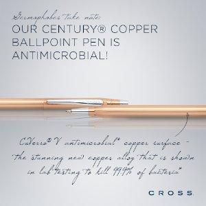 7折+9折+买一赠一 两支$31.5Cross 经典世纪系列 古铜色 金属旋出式圆珠笔