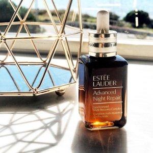 新人8.5折+送3件明星单品Estee Lauder 无限回购小棕瓶、微精华水 爆款新品权杖唇霜