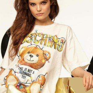 娜扎同款 6.8折到手$168独家:Moschino 封面款小熊T恤、连衣裙热卖