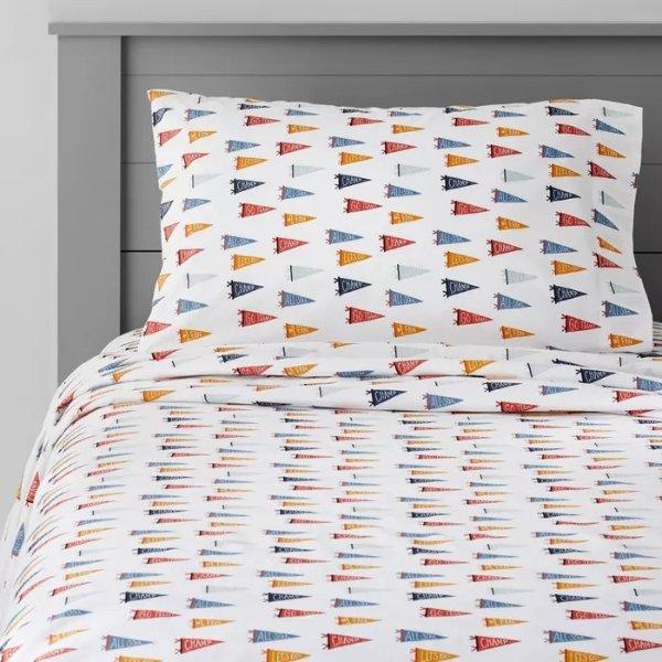 Pillowfort™ 三角旗图案床具套装