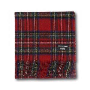 Gretna Green 红色格纹羊绒围巾