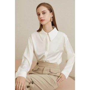 Ecru Emissary白色基础款衬衫