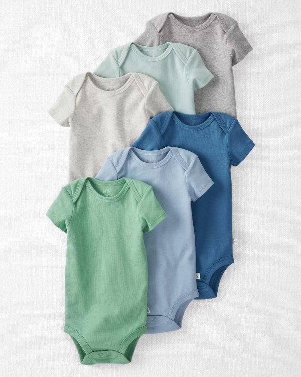 婴儿有机棉包臀衫6件装
