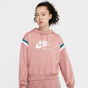 5折起+额外7.5折 €28收少女卫衣Nike 夏季大促 绝美卫衣 颜色好温柔 降温天必备男友风穿搭