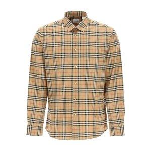Burberry官网$740!变相5.5折Archive Beige 格纹衬衫