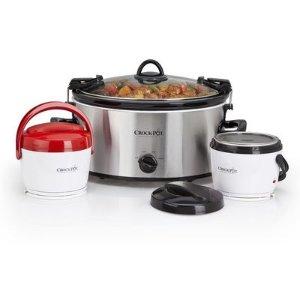 Crock-Pot慢炖锅+加热饭盒三件套