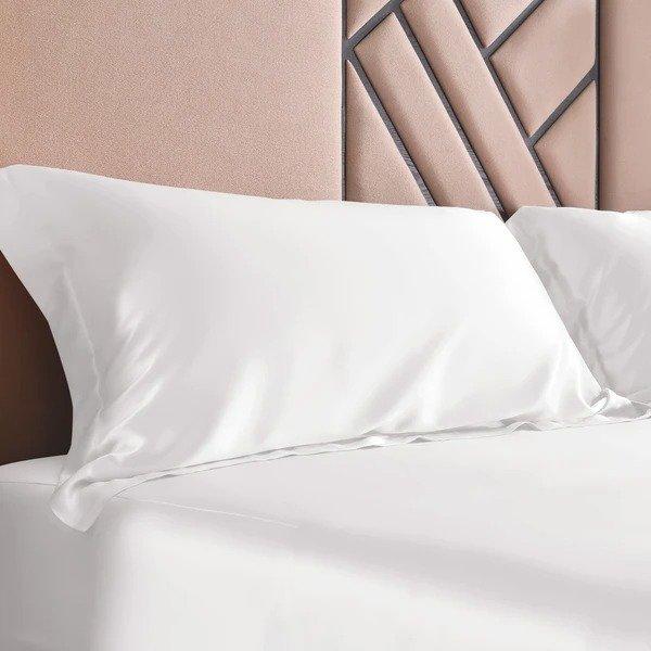 19姆米真丝压边枕套