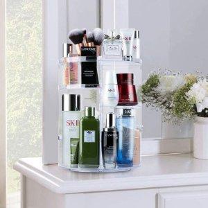 低至6.7折 €16.14收透明款Auxmir 化妆品收纳架 高度可调可旋转 让台面整整齐齐