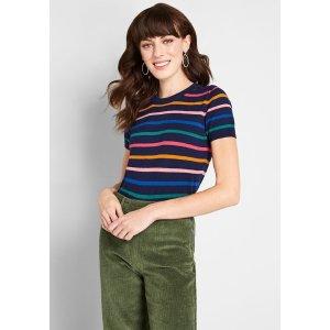 ModClothCharter School Short Sleeve Sweater