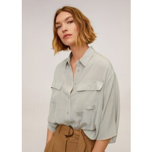 MangoPockets flowy shirt - Women | Mango USA