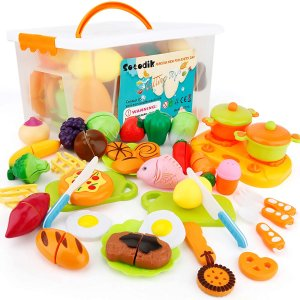 $22.63(原价$30.99) 包邮闪购:SONiKi  切割食品玩具 带储物盒 共40件