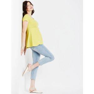 Motherhood MaternitySecret Fit Belly Skinny Leg Maternity Crop Jeans