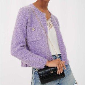Maje香芋紫超美,现码全香芋紫开衫