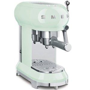 Smeg随时补货意式咖啡机 薄荷绿