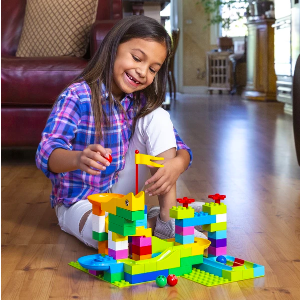 97-Piece Kids Create Your Own Marble Maze Run Racetrack Puzzle Game Set