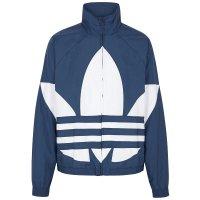 Adidas Original 蓝色三叶草logo拉链卫衣