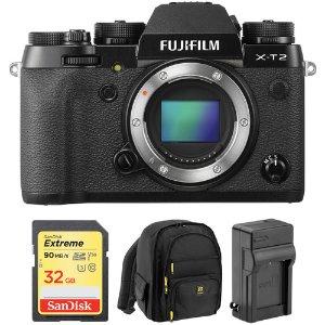 FUJIFILM X-T2 Mirrorless Digital Camera Body with Free Accessory Kit