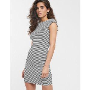 Only黑白条纹连衣裙