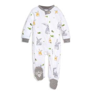 Burt's Bees BabyEaster Bunny Trail Watercolor Organic Baby Sleep & Play Pajamas