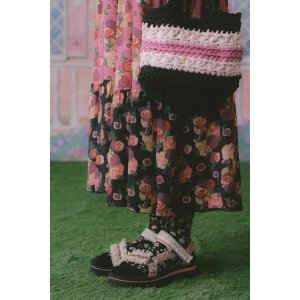 Anna SuiButterfly Meadows Sock in Black