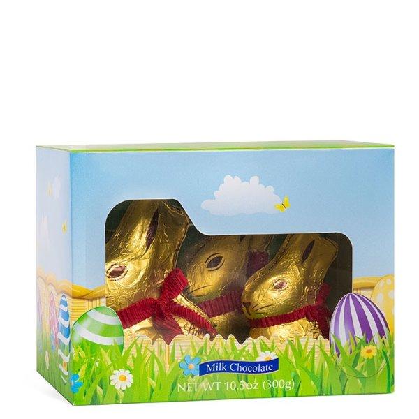 复活节金兔子牛奶巧克力,10.5 oz