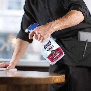 $43.71补货:PURELL 消毒喷雾32oz X 6瓶,批准用于食品接触表面
