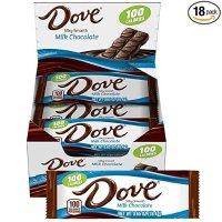 德芙 丝滑牛奶巧克力 18条装 每条100卡
