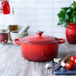经典红铸铁锅 24cm