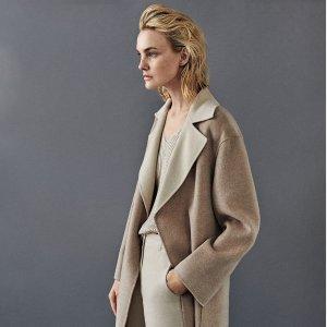 一律6折+免邮Max Mara 时尚专场,羊毛外套$573起,羊绒围巾$255