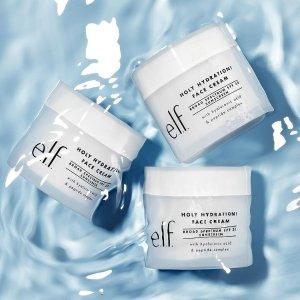 8折+送好礼e.l.f. Cosmetics 护肤品热卖 收保湿面霜 提亮保湿