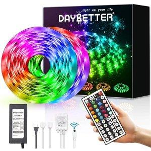 LED灯带 32.8英尺防水柔性胶带灯变色5050 RGB 带红外遥控器
