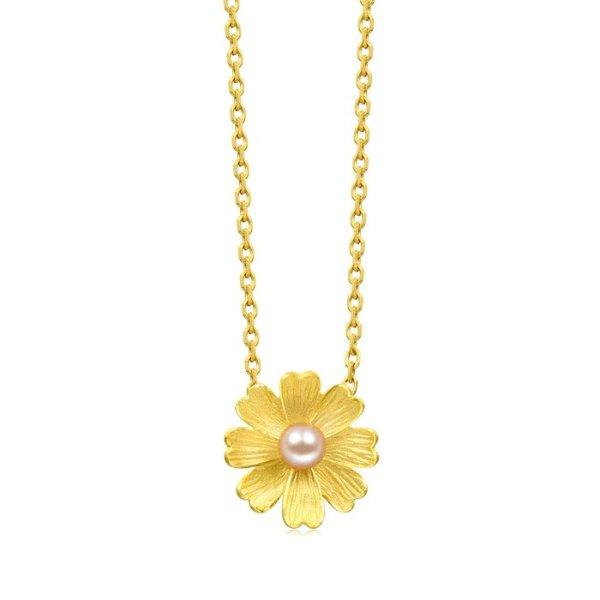 黄金小花项链