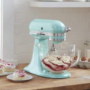 闪购:KitchenAid KSM155G 5夸脱专业立式厨师机多色可选,史低