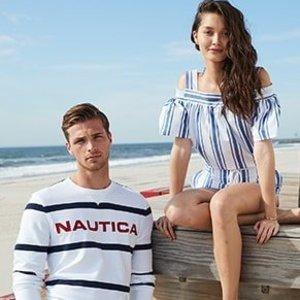 低至6折 $40入条纹T恤Nautica官网 精选清凉夏季美衣、美裙热卖