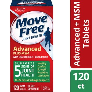 Move Free Advanced Plus MSM, 120 tablets - Joint Health Supplement with Glucosamine and Chondroitin - Walmart.com