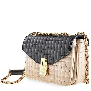 Black/Beige Quilted 拼色斜挎包