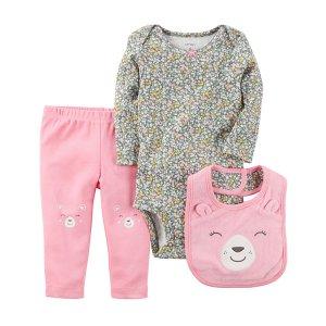 封面套装$5.59Carters 新生宝宝基础款服饰促销 低至4折