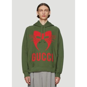 GucciManifesto Hooded Sweatshirt in Green