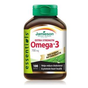 Omega-3  无腥味鱼油700mg 100粒