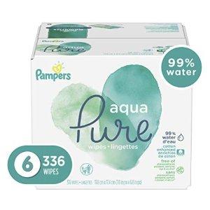 $14.15+包邮Pampers Aqua Pure 宝宝湿巾336抽,敏感宝宝也适用