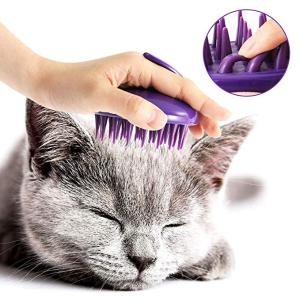 $7.99(原价$9.99)闪购:CELEMOON 可清洗猫咪梳毛刷 猫咪最爱的头部按摩器