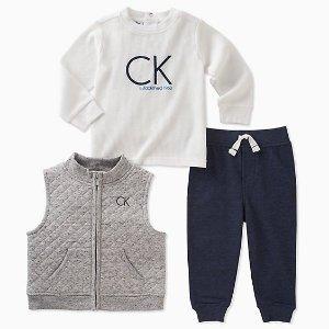 无门槛包邮Calvin Klein 官网儿童内衣、服饰低至2.5折私家特卖会