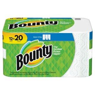 $40.06+送$10礼卡Bounty Select-A-Size 厨房纸巾 36卷