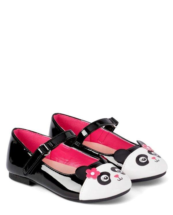 儿童熊猫平底鞋