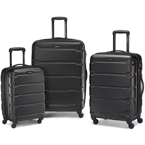 Omni 20、24、28吋硬壳万向轮旅行箱三件套 黑色