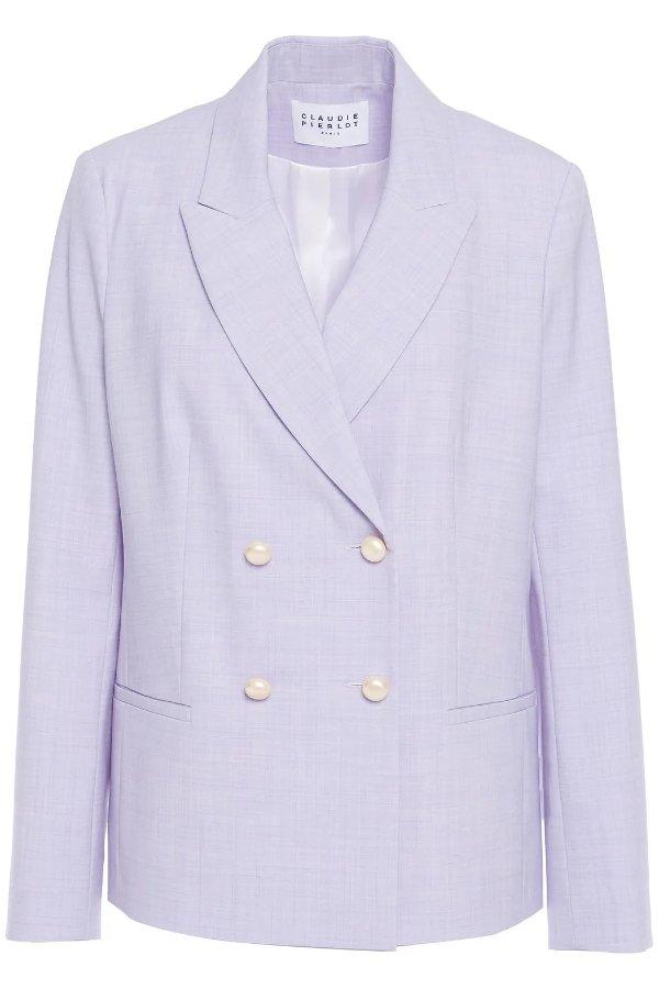 淡紫色西装