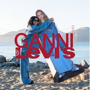 $155收Logo T恤上新:LEVI'S® x GANNI 联名款服饰 街潮与复古淑女风碰撞