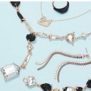$25起 玫瑰金项链$57Swarovski 精选首饰闪购专场,宝石水晶祖母绿耳钉$57